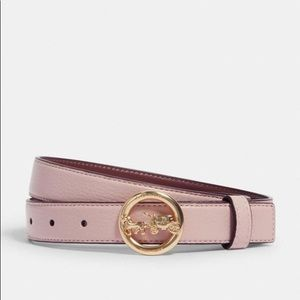 NWT Coach 78181 Horse and Carriage Pink Belt